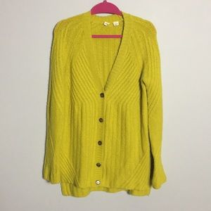 Anthropologie • MOTH Chartreuse Oversized Cardigan